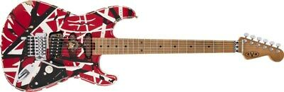 EVH Striped Series Frankie, Maple Fingerboard, Red/White/Black Relic • 1,107.69£