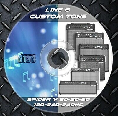3.500 Patches Line6 Spider V 20-30-60-120-240-240HC Effects Processor. Library • 8.25£