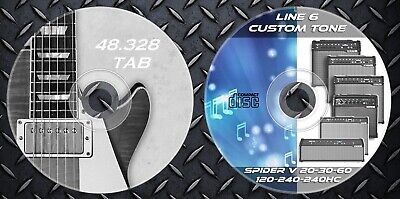 3.500 Patches Line6 Spider V 20-30-60-120-240-240HC. 48.000 Guitar Tablature TAB • 12.99£