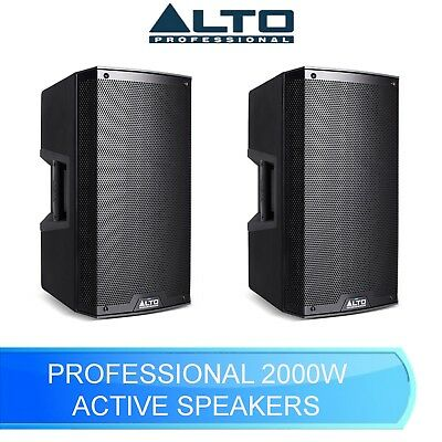 Alto Ts315 2000w 15  2 Way Active Class D Bi Amplified Speakers Ts 315 (pair) • 598£