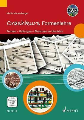 Crashkurs Formenlehre Marlis Mauersberger Play Schott MUSIC BOOK & DVD • 21.50£