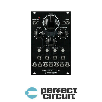 Erica Synths Black Stereo Delay Modular EURORACK - NEW - PERFECT CIRCUIT