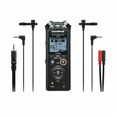Olympus LS-P4 Interviewer Kit Incl. 2x Lavalier Mic And Stereo Breakout Cable    • 199.02£