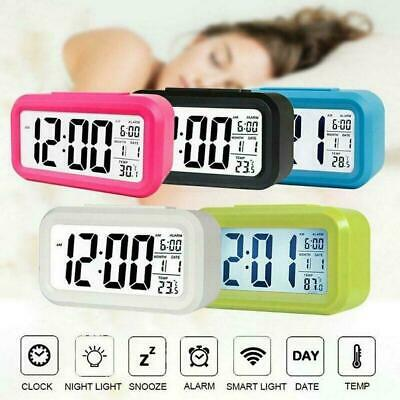 Digital LCD Snooze Electronic Alarm Clock With LED Backlight Light Control K2C4 • 4.31£