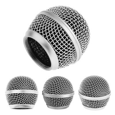 Silver Microphone Grille Mesh Cover Windshield For Shure SM58 SM58LC SM58SK  Uk • 5.48£