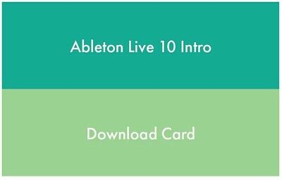 Ableton Live 10 Intro, DAW Music Production Software, New And Unused  • 50£
