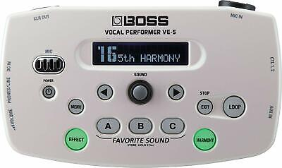 [ Boss ] Vocal Performer VE-5-WH White Effect Live Performance From Japan • 250.08£