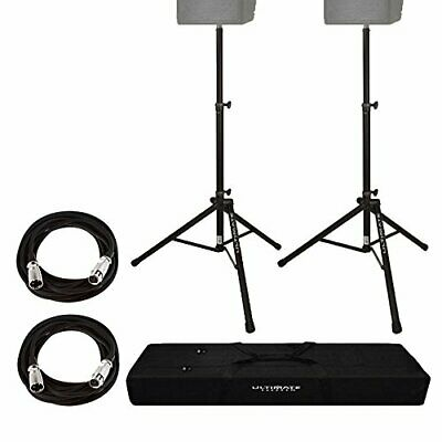 Ultimate Support TS80B Aluminum Lightweight Speaker Stand With Bag + 2 XLR Cable • 156.30£