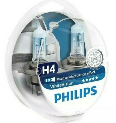 Philips WhiteVision H4 Car Headlight Bulb 12342WHVSM (Twin) • 12.99£