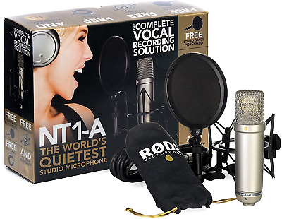Rode NT1-A Condenser Microphone Complete Vocal Recording Solution Kit • 179£