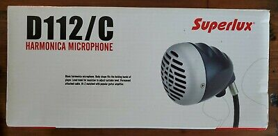 Superlux D112 C Dynamic Harmonica Microphone Harp Mic W/ 20ft Cable • 60.01£