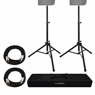 Ultimate Support TS80B Aluminum Lightweight Speaker Stand With Bag + 2 XLR Cable • 144.78£