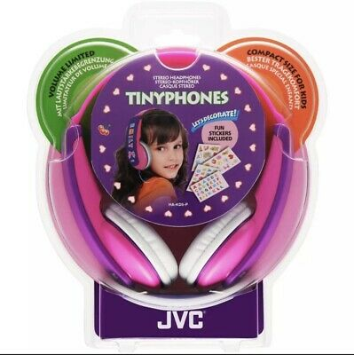 JVC Girls Tiny Phones Pink/Purple Headphones, Decorated With Supplied Stickers 4 • 18.99£