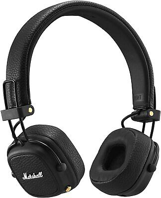 Marshall Major 3 Bluetooth Foldable Headphones - Black Major III • 79£