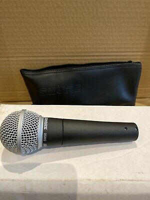 SHURE SM58-LCE Professional Vocal Microphone Handheld SM58 Mic Singer Vocalist • 102£