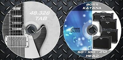 540 Patches BOSS KATANA 50-100-212-HEAD Custom Tone. & 48.328 Guitar Tablature • 12.99£