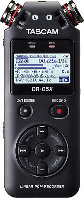 Tascam DR-05X Portable Audio Recorder • 89.98£