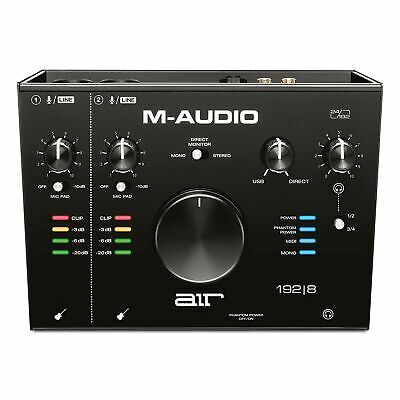 M-Audio AIR 192|8 - 2-In/4-Out USB Audio / MIDI Interface With Recording Soft... • 262.49£