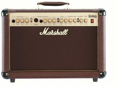 Marshall AS50-D 50W Acoustic Guitar Amp With Mic Input • 228£