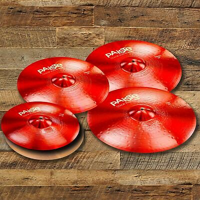 Paiste 900 Color Sound Series Red Medium Extended Cymbal Pack (even Sizes)