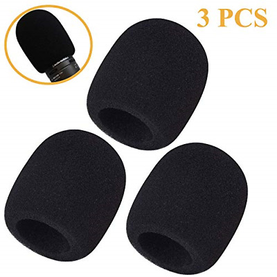 3 Pack Foam Windscreen - Large Size Microphone Cover For Audiotechnica AT2020,SE • 14.27£