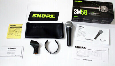 Shure SM58S Dynamic Vocal Microphone With On/Off Switch With Gift XLR Cable New • 61.50£