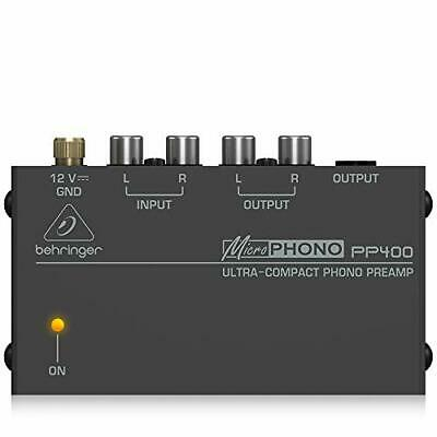 Behringer Microphono PP400 Ultra-Compact Phono Preamp,Silver • 52.30£