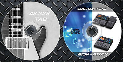 1.100 Patches ZOOM G1on-G1Xon Multi Effects & 48.328 Guitar Tab Sheet Music Book • 9.99£