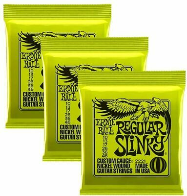 3 Pack Ernie Ball Regular Slinky Nickel Wound Sets.010 - .046 Electric Guitar • 21.79£