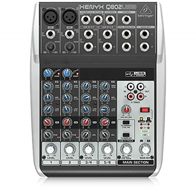 Behringer Premium 8 Input 2 Bus Mixer With XENYX Mic Preamps/Compressors/British • 70.73£