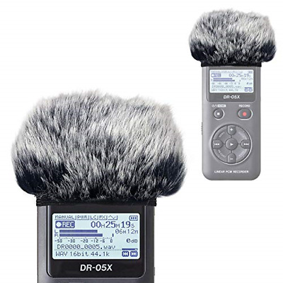 DR05X Windscreen Muff For Tascam DR-05X DR-05 Portable Recorders, DR05X Mic Fur • 10.69£