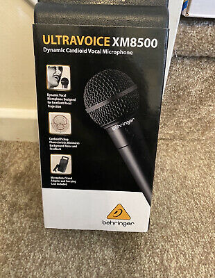 Behringer XM8500 Ultravoice Dynamic Cardioid Vocal Microphone • 10£