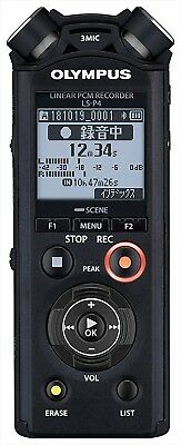 OLYMPUS Linear PCM Recorder LS-P4 Black BLK 8GB FLAC Compatible High Res NEW • 123.64£