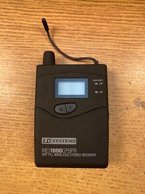 LD Systems MEI1000 G2 In-Ear Monitor System - UHF Belt Pack Receiver 863-865MHz • 46£