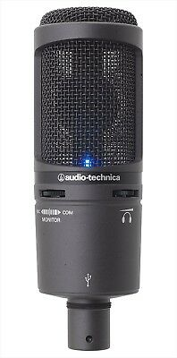 Audio-Technica Back Electret Condenser Type USB Microphone AT2020USB NEW • 158.25£