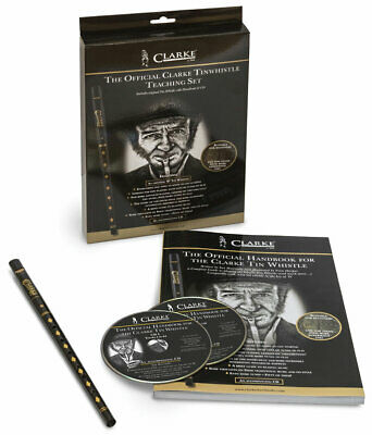 CLARKE ORIGINAL High D Tin Penny Folk Whistle GIFT PACK with Book & CD.