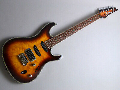 *NEW* Ibanez SA460QM ABB (Antique Brown Burst) HSS Quilted Maple Top W/GB  • 730.61£