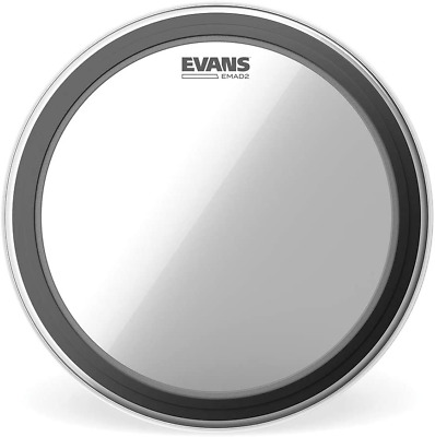 """Evans EMAD2 Clear Bass Drum Head, 20"""" – Externally Mounted Adjustable Dampin • 43.36£"""