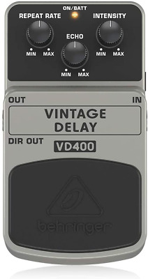 Behringer VD400 Vintage Delay Effects Pedal Analog Sound Shaping High Quality UK • 34.99£