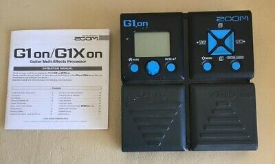 ZOOM G1 On MULTI EFFECTS GUITAR PEDAL WITH INSTRUCTION MANUAL • 25£