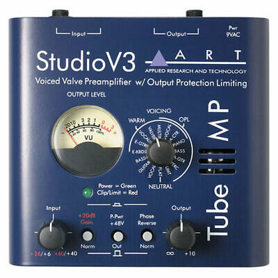ART Tube MP Studio V3 - Tube Microphone Preamplifier with Variable Valve Voicing