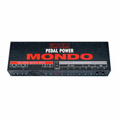 Voodoo Labs Pedal Power Mondo Power Supply - 12 Isolated Outputs, 6 High-Current