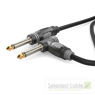 SOMMER CABLE Basic 3M Instrument Cable 6,3mm Jack Angled HBA-6M6A-0300
