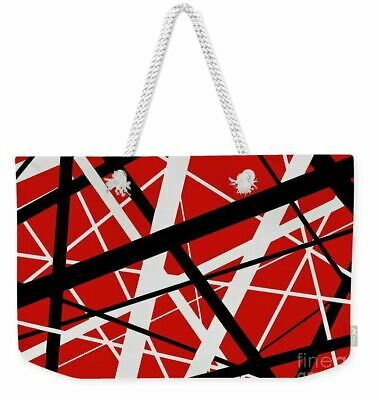 EVH Red Stripes All Over Graphic Tote Bag Or Weekend Bag • 17.98£