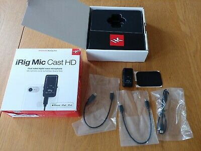 IK Multimedia iRig Mic Cast HD Microphone For iOS, Android, Mac & PC