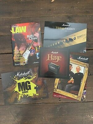 Amplifier Amp Brochures & Marshall Law Magazine from 2008, Biffy Clyro cover
