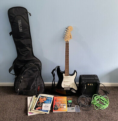 Fender Squire Strat Affinity Electric Guitar With Amp & Accesories