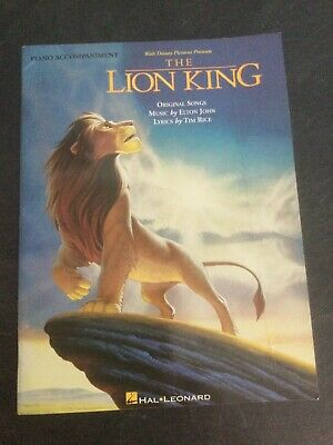 The Lion King Sheet Music Book by Hal Leonard