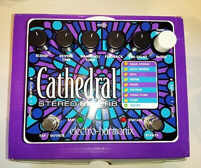 Electro Harmonix Cathedral Deluxe Reverb Pedal Mint ConditionBOXED - FREE POST