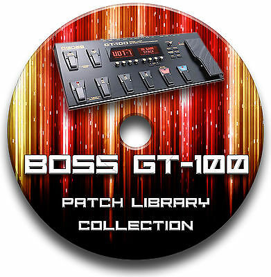 Boss Gt-100 Pre-programmed Tone Patches Cd - Over 5,500! Guitar Effects Pedals • 4.99£